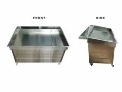 stainless steel fish display counter