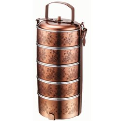 Round AWKENOX Stainless Steel Tiffin