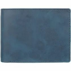 Blue Synthetic Leather Mens Wallet