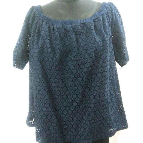 3bbb6e52cec9 Cotton Half Sleeve Ladies Lace Top, Size: S, M & L, Rs 180 /piece ...