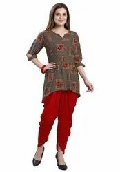 Indian Fancy Top With Tulip Patiala