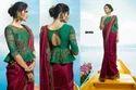 Barfi Silk Heavy Embroidered Wedding Wear Saree