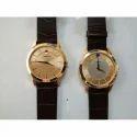 Crony Casual Wear Leather Strap Wrist Watch