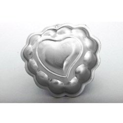 Decorated Heart Mini Jelly Pans