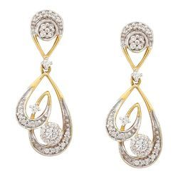 Tanishq Diamond Earrings