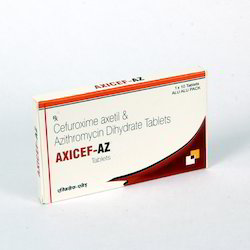 AXICEF-AZ Cefuroxime with Azithromycin Tablets, Packaging: 1 x 10