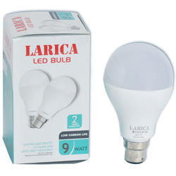 Larica Cool White 9 Watt LED Bulb, Base Type: B22