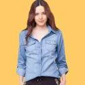 Ladies Plain Casual Shirts, Size: M