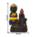 Buddha Back Flow Smoke Fountain Insence Cone Burner