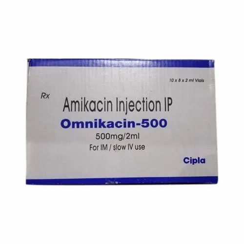 Cipla Amikacin Injection IP, Packaging Size :10X8X2 mL Vials, Rs 60 /unit |  ID: 21749250455
