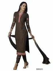 Coffee Traditional Fashion Designer Coffe Color Indian Salwar Kameez