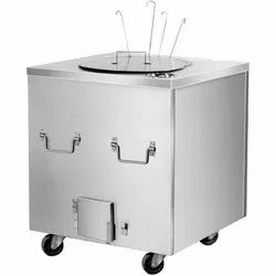 Stainless Steel Square Tandoor, Capacity: 16 Roti, for Restaurant