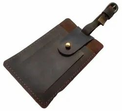 Vintage Leather Tag Holder
