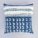 Indigo Dabu Tufted Decorative Pillow Cushion Cover 18x18