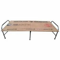 Ply And Metal Brown Folding- Plywood Bed, Size: 3x6 Ft