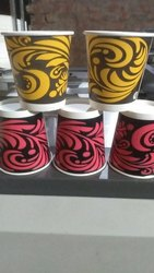 200 ML Pink And White Disposable Paper Cup, Packet Size: 40 Pic, Size: 210 Ml