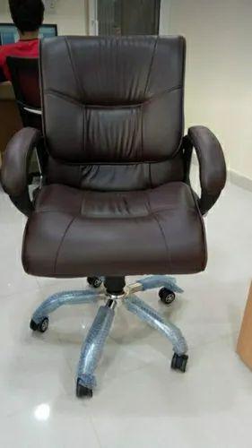 Leatherette Medium Back Cushion Office