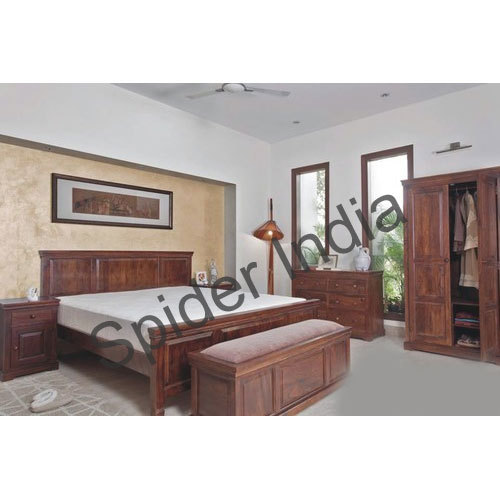 Wooden Bedroom Interior Bed Set