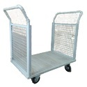 Mild Steel Platform Trolley With 2 Sides Mesh