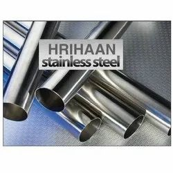 Brushed Hrihaan Stainless Steel Round Pipe