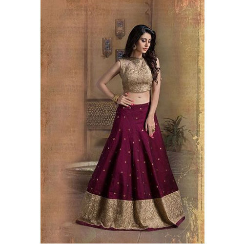 04ddd2525b Semi-Stitched Bangalory Silk Party Wear Designer Lehenga Choli, Rs ...
