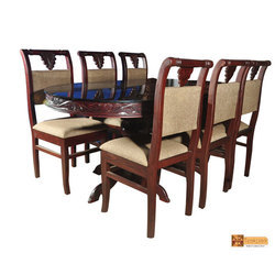 Padma Solid Oval Rosewood Dining Set