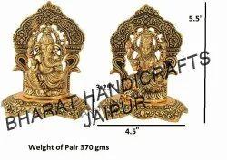 Gold Plated Laxmi Ganesh