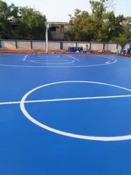 Outdoor Synthetic PU Basketball Court