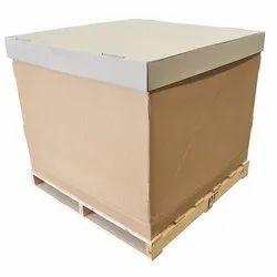 Rectangular Brown Wooden Packaging Pallet Box, For Hospital, Capacity: 20-25 Kg
