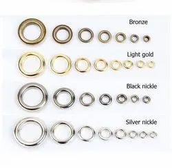 Silver Brass Eyelets