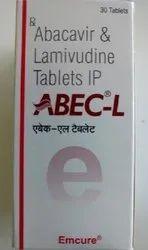 Abec-L Tablet - (Abacavir (600 mg) Lamivudine (300 mg)