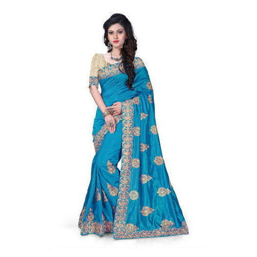 9b560da13 Silk And MACH COLOR Blue Designer Saree