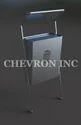Stainless Steel Silver X Cross Waste Bins