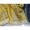 Yellow Matka Silk Jamdani Saree with Blouse Piece, Saree Length: 6.3 m
