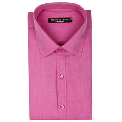 Pink Solid Color Formal Shirt