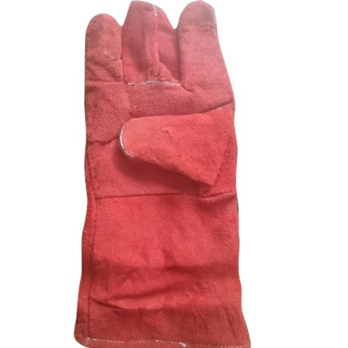 Full Finger Red Cotton Full Fingered Hand Gloves, Size: M-XXL