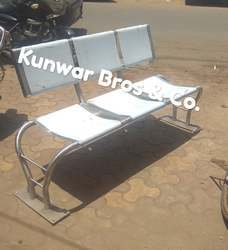 Stainless Steel Three Seater Bench