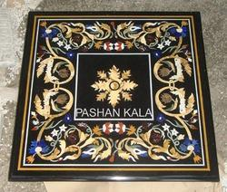 Square Marble Inlay Dining Table Top