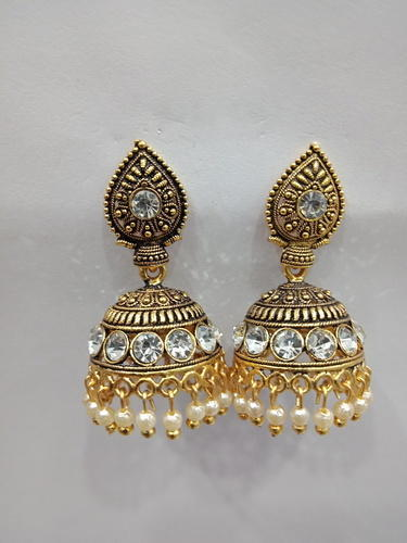 070faa637 Jay Khodiyar Imitation GN Oxidized Gold Traditional Jhumka | ID ...