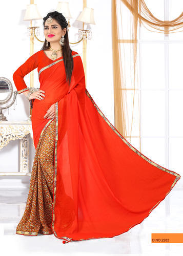 99cd69ead2 Orange Special Navratri Printed Saree, Rs 445 /piece, Bharat ...