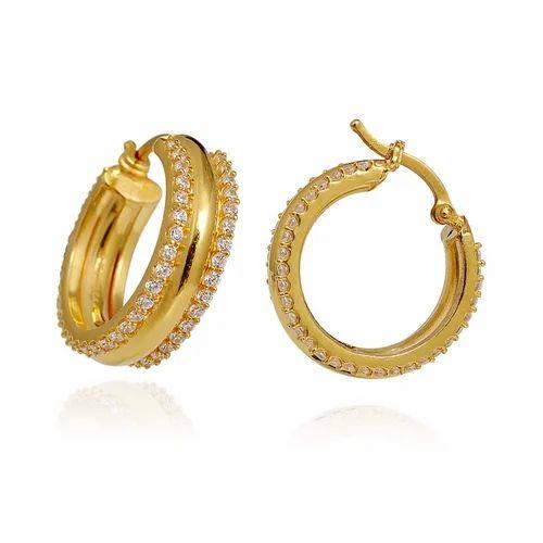 Hoop Gold Earring At Rs 15000 Pair Soni Bazar Rajkot Id