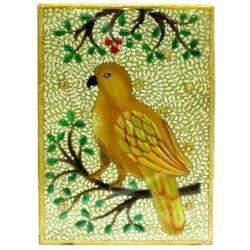 Marble Bird Painting