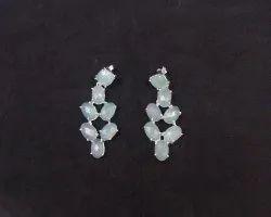 Aqua Chalcedony Gemstone Earring Set
