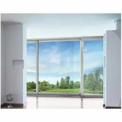 Rectangular Silver Residential UPVC Glass Sliding Window, Thickness Of Glass: 5 To 40mm