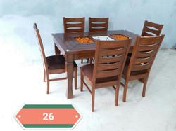 Woodline Creation Saagwood Dinning Table, for Home / Hotel
