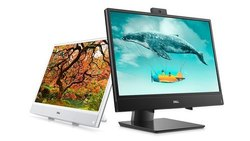 Silver Dell Inspiron 22 3000 All- In- One Desktop Computer