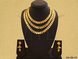 Temple Coin Necklace Set