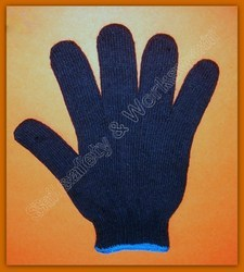 SS & WW Make 70 Gram Cotton Knitted Safety Hand Glove