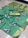 Linen Cotton With Zari Border