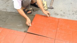 Civil Construction Screeding For Floor Tiles Lying